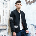 New High quality mens fashion black army flight pilot bomber jacket Ma-1design Stockriders printing size M-XXXL