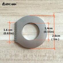 цена на 2 PCS EDC  Pocket Military Knife steel Outdoor camping survival tools Camping Mini Key Ring Knife Tool Silver