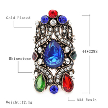 Unique Turkey Jewelry For Women Fashion Love Gift Mosaic Crystal Wedding Engagement  Crown Rings