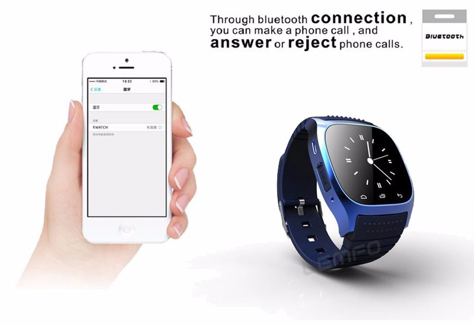 SHAOLIN Bluetooth Smart Watch Phone Wearable Devices SmartWatch For Apple Android IOS Mobile Phone PK GT08 DZ09 U8 A9 IWO -4