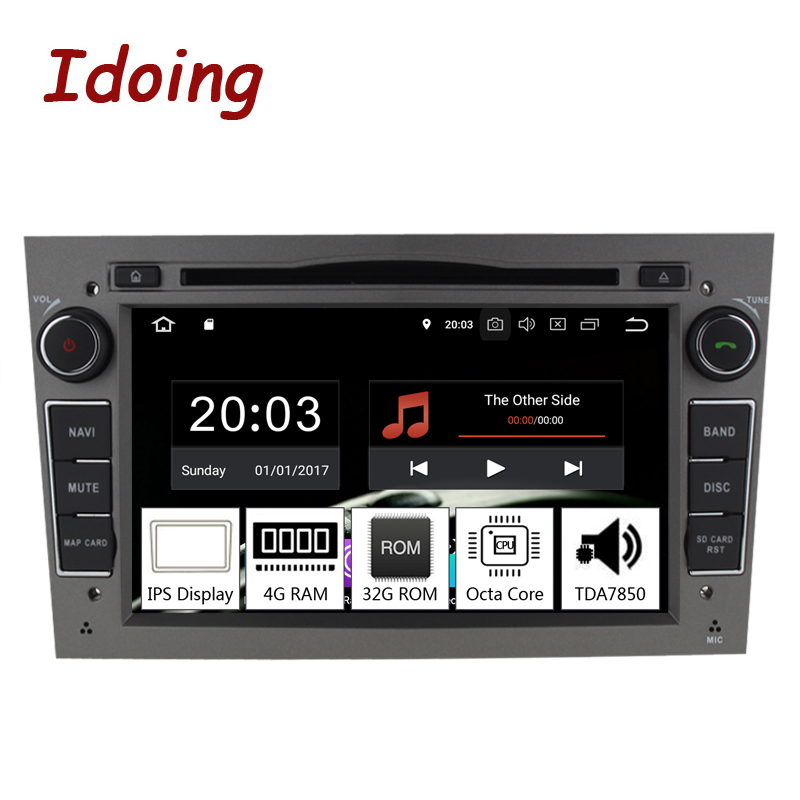 Idoing 72Din Andriod 9.0 Car Radio DVD Multimedia Player For Opel Vectra Corsa D Astra H PX5 4GB+32G 8 Core IPS GPS Navigation