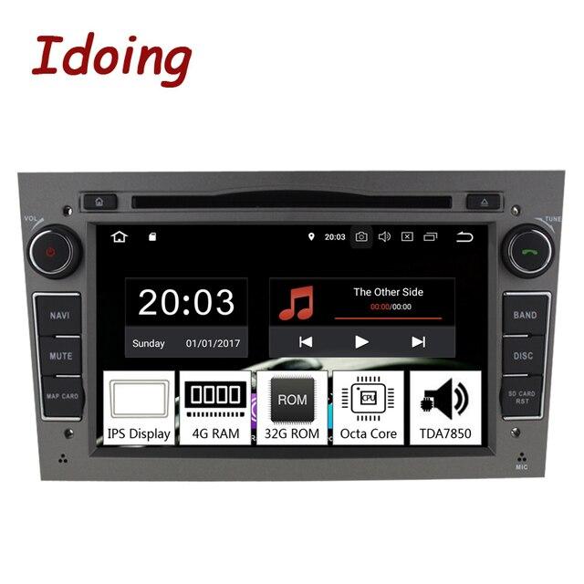 """Idoing 7 """"2Din の Andriod 9.0 カーラジオ Dvd マルチメディアプレーヤーオペルベクトラ Corsa D アストラ H PX5 4 ギガバイト + 32 グラム 8 コア IPS GPS ナビゲーション"""
