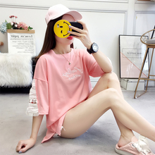 Korean version Print Large size T shirts Women embroidery Tees Casual O-Neck Short Sleeve Loose Cool T-shirt Female Tops все цены