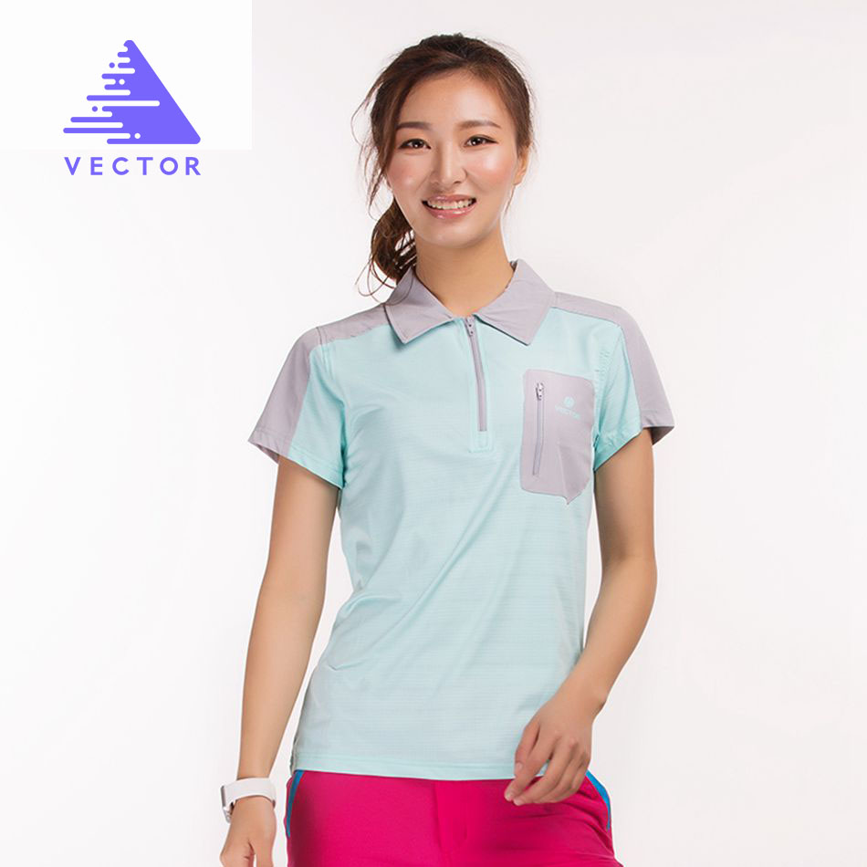 VECTOR Brand Quick Dry Shirt Women Outdoor Breathable Coolmax T-Shirt Short Sleeve Sport Running Climbing Hiking Fishing 10018