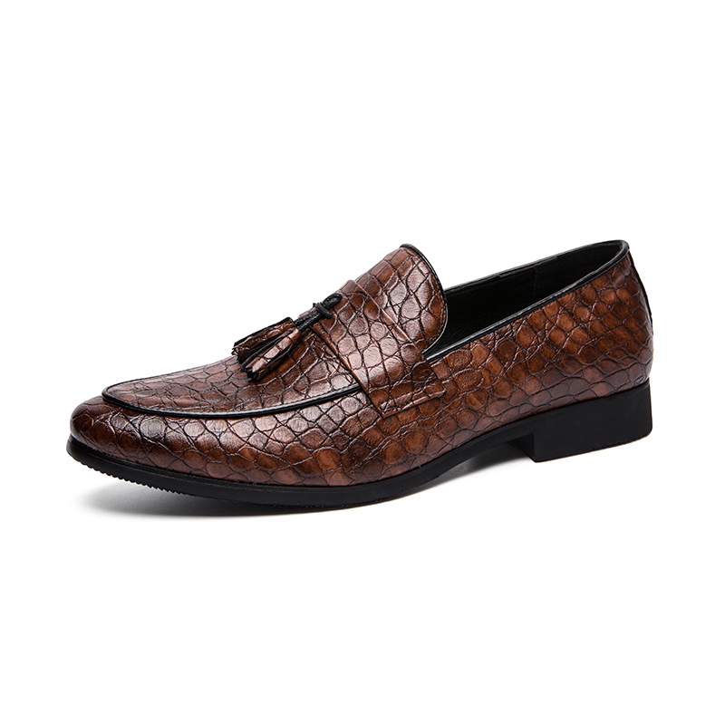 Misalwa Men Slip on Smoking Slipper Tassel Loafer Wedding Dress Shoes Plus Size Pointed Toe Low Heels Oxfords Boat Driving Flats in Men 39 s Casual Shoes from Shoes