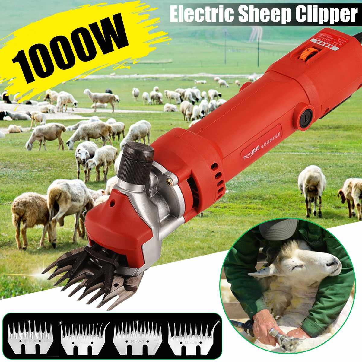 1000W 220V 2400R/Min Electric Shearing Clipper Shear Sheep Goats Alpaca Shears Pet Hair Shearing Machine Cutter Wool Scissor