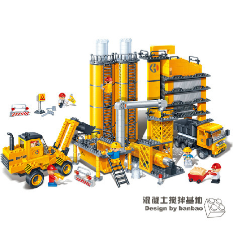 Model building kits compatible with lego city Forklift Tipper 874 3D blocks Educational toys hobbies for children