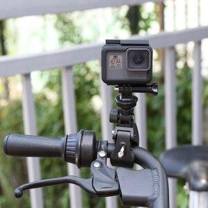 Image 5 - Shoot guidão da bicicleta alça braçadeira câmera de montagem para gopro hero 7 8 5 6 sjcam xiaomi yi lite 4 k h9 bicicleta clipe titular acessórios