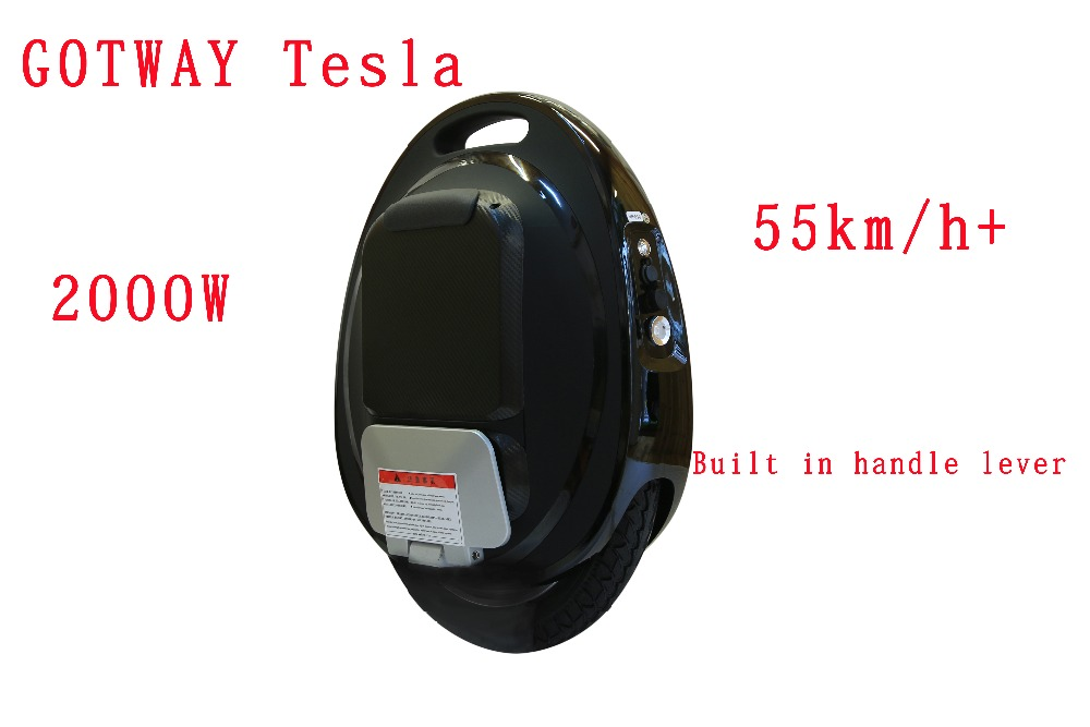 GotWay Tesla 16 pouces 84 v Haute performance électrique monocycle 2000 w moteur vitesse max 50 km/h + batterie 425/850/1020WH, life40-100km APPLICATION