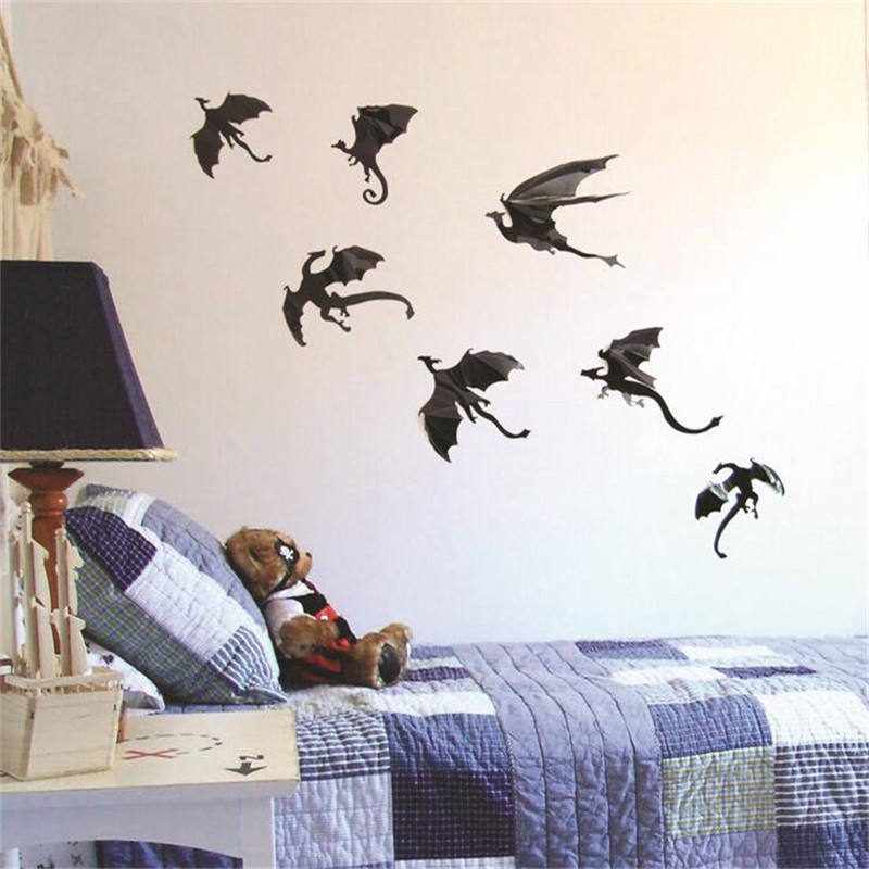 Game Of Thrones 3D Dragon Wall Art DIY Wall Sticker Home Decor Room Art  Decoration Kids Wall Stickers In Wall Stickers From Home U0026 Garden On  Aliexpress.com ...