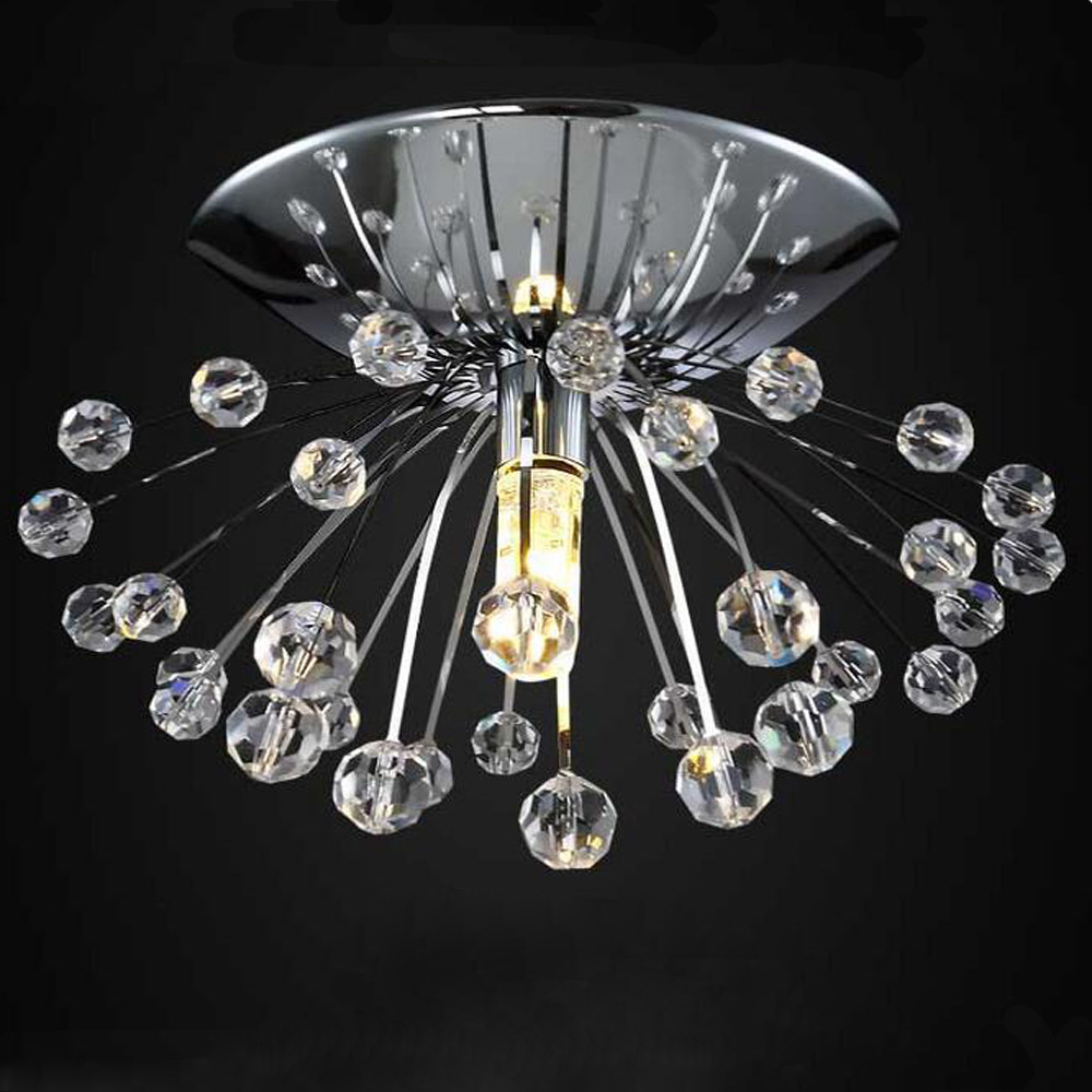 Dandelion Modern Crystal Mini Ceiling Lights For Bedroom Living Room Wedding Lustres De Teto Decoration For Ceiling WCL015 noosion modern led ceiling lamp for bedroom room black and white color with crystal plafon techo iluminacion lustre de plafond
