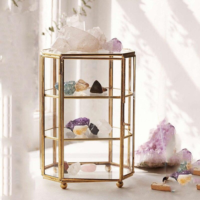 Boîte à bijoux en verre belle européenne nouvelles idées cuivre éternelle fleur verre boîte cadeau décoration de la maison