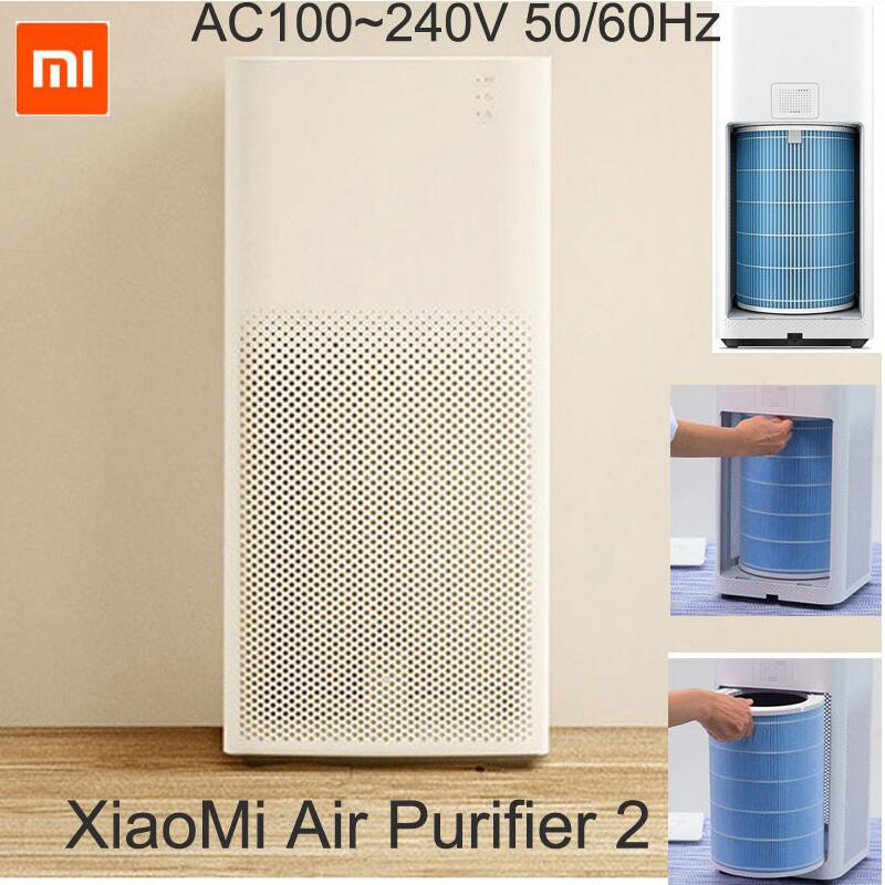 Original XIAOMI Air Purifier 2 Intelligent Wireless Smartphone Control Smoke Dust Peculiar Smell Cleaner Household Appliances salter air fryer home high capacity multifunction no smoke chicken wings fries machine intelligent electric fryer