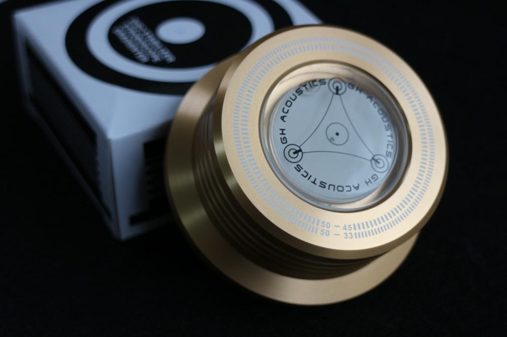 3 en 1 Dossier Pince LP Disque Stabilisateur Platine couleur or 50 hz