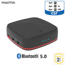 HAAYOT Bluetooth 5.0 CSR8675 Transmitter Wireless Audio Receiver Aptx HD Receptor with Digital Optical Toslink/SPDIF/AUX Adapter(China)