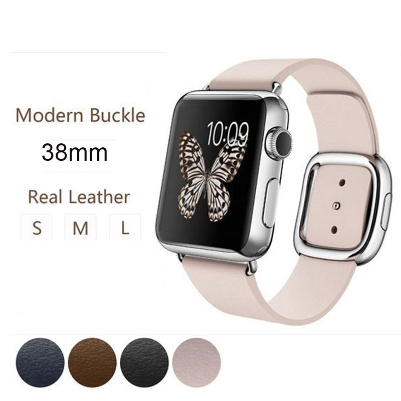 100% Genuine link bracelet For Apple Watch Leather Loop 38mm Adjustable Magnetic Closure Band For Apple Watch leather strap 42mm