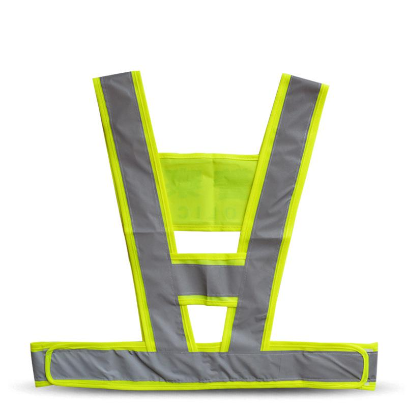 Reflective Vest Traffic Safety Clothing Fluorescent Workwear To Work V-Type Unisex Tops Hot Sale High Quality (Can Printed Word) cycling reflective clothing reflective vest safety clothing to road traffic motocross body armour protection jackets