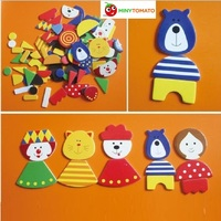 Free Shipping Education Kids Toys 90pcs Of Patch Magnetic Cartoon Jigsaw Puzzle Wooden Toy For Children