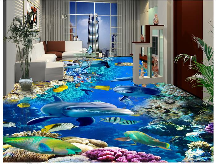Customized 3d wallpaper 3d flooring painting wallpaper 3 d ocean floor to floor tile decoration 3d living room photo wallpaer customized 3d photo wallpaper 3d floor painting wallpaper 3 d stereo floor tile only beautiful flowers 3d living room decoration