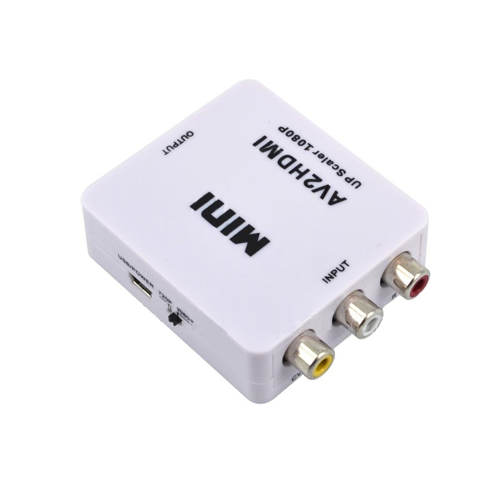 2017 mini RCA AV Stecker auf HDMI Buchse Adapter Full HD 1080 P Mini Composite CVBS AV2HDMI Audio konverter