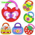 HAPPYXUAN 1 piece DIY Handmade Eva Handbags for Kids Sewing Bag Craft kit Learning & Education Toy for Children