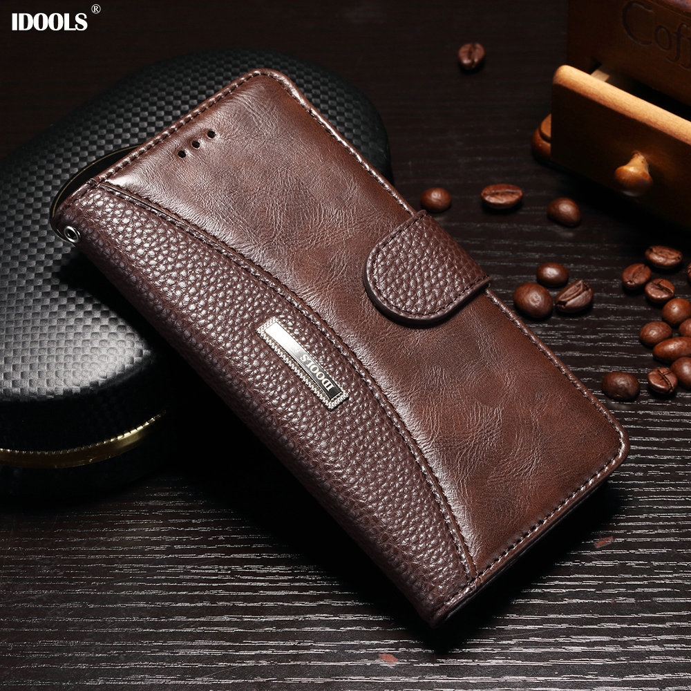 IDOOLS for Huawei Honor 9 10 Case PU Leather Covers Wallet Phone Bags Cases for Huawei Honor 10 9 With Card Holder STF-AL00