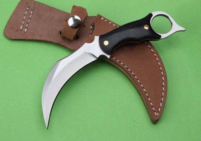 Cs go karambit Camping survie cou couteau 5Cr13 lame Micarta poignée extérieur Multi couteaux Tacticla fixe couteaux EDC outils