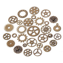 ФОТО metal mixed steampunk gears charms for jewelry making diy fashion accessories punk gears pendant charms 100 pieces
