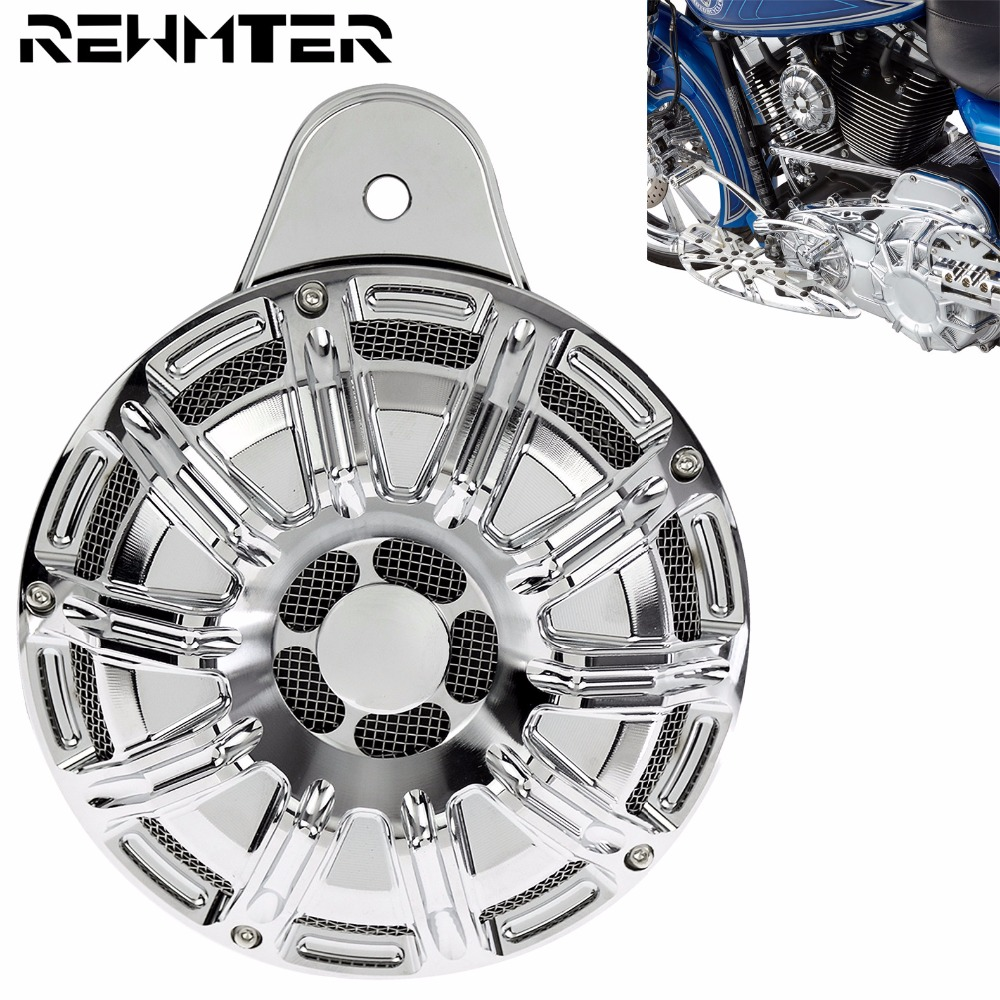 Motorcycle Horn Cover Speaker Cover Aluminum For Harley Chrome Big Twin Cam 1991 2015 2016 2017