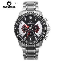 CASIMA Fashion Sport Multi-function chrogograph Men's Watch Stainless Steel Waterproof With Luminous Hands 8103