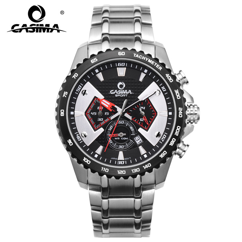 CASIMA Fashion Sport Multi-function chrogograph Mens Watch Stainless Steel Waterproof With Luminous Hands 8103CASIMA Fashion Sport Multi-function chrogograph Mens Watch Stainless Steel Waterproof With Luminous Hands 8103