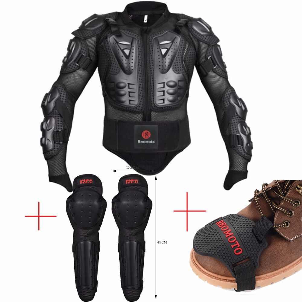 موتوكروس الدروع سباق الأحذية تحول غطاء كامل الجسم واقية دراجة نارية منصات الركبة الحرس حامي