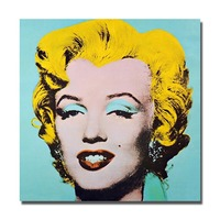 Hand drawing good quality pop art famous lady star picture portrait acrylic oil painting home goods oil painting
