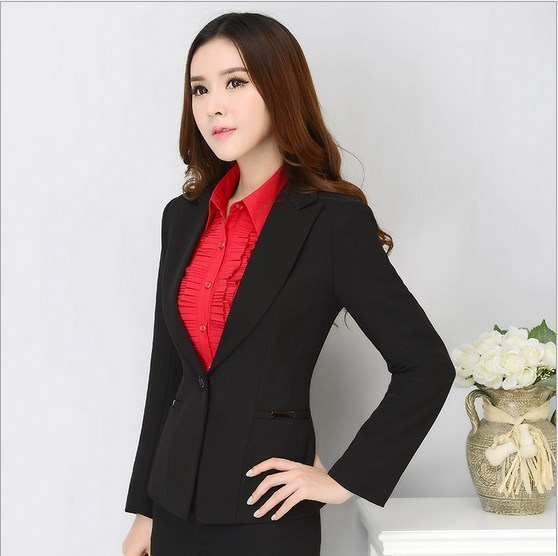 Senhoras Vermelho Preto Azul Calças Formais Ternos Para Mulheres Slim Fit escritório Ternos Com Calças 2 Peça Define Pantsuits Plus Size S-XXXL