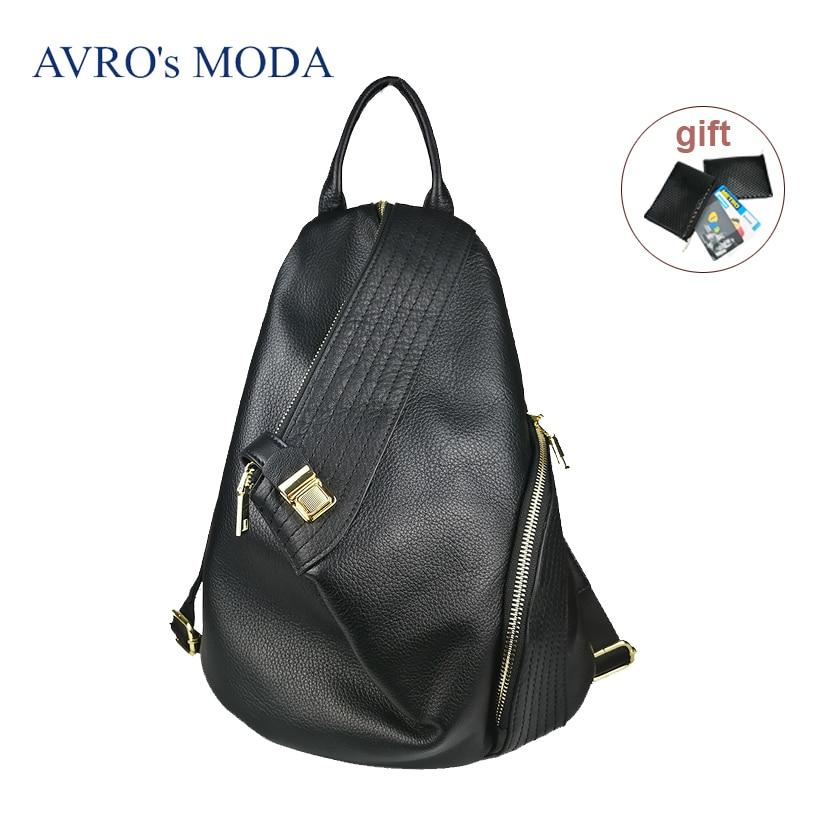 Genuine leather casual women backpack female anti-theft backpacks ladies large capacity bucket hobo mochila feminina mochilas