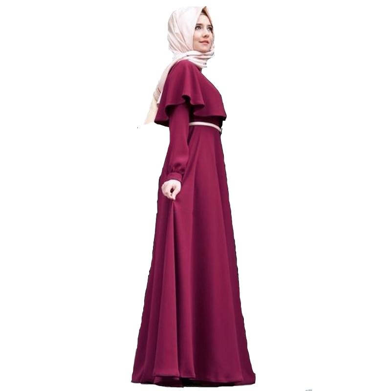 Gwisg fawr maint cotwm abaya abaya kimono robee dillad mwslimaidd - Dillad cenedlaethol