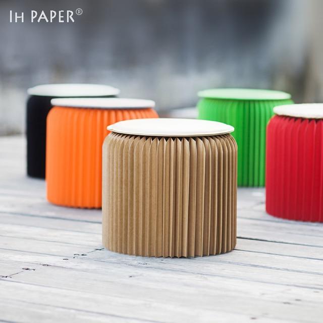 Free shipping !!! Creative Colorful Paper Folding Chair, Modern Minimalist Design Coffee Single Chair, Space saving chair