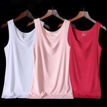 Seamless Vest Round neck sling female summer wear inside modal bottoming shirt large size sleeveless