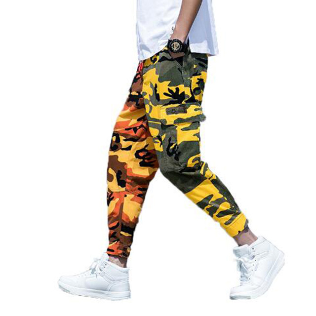 44b50165a 2018 Mens Camouflage Tactical Cargo Pants Men Joggers Boost Military Casual  Cotton Pants Hip Hop Ribbon Male army Trousers-in Casual Pants from Men's  ...