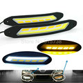 2 In ONE Car Front Turn Signals And DRL Daytime Running Lights external lamp car styling light source parking auto fog bar lamp