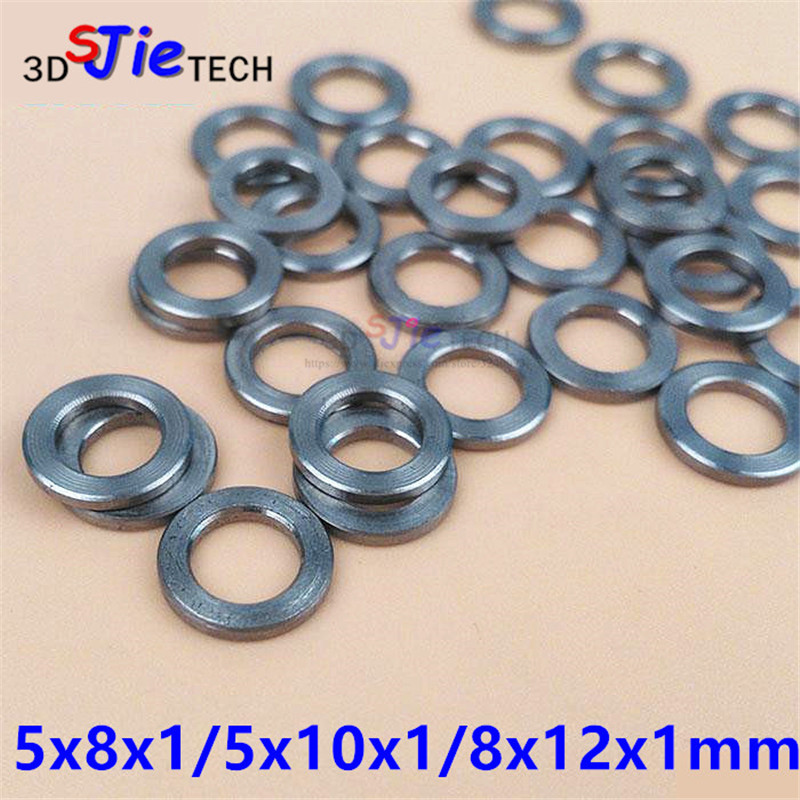 50pcs 5x8x1mm 5x10x1mm 8x12x1mm Mini V Wheel Precision Shim Washer Stainless Steel For OpenBuilds/CNC/3D Printer Mini Wheel Kit