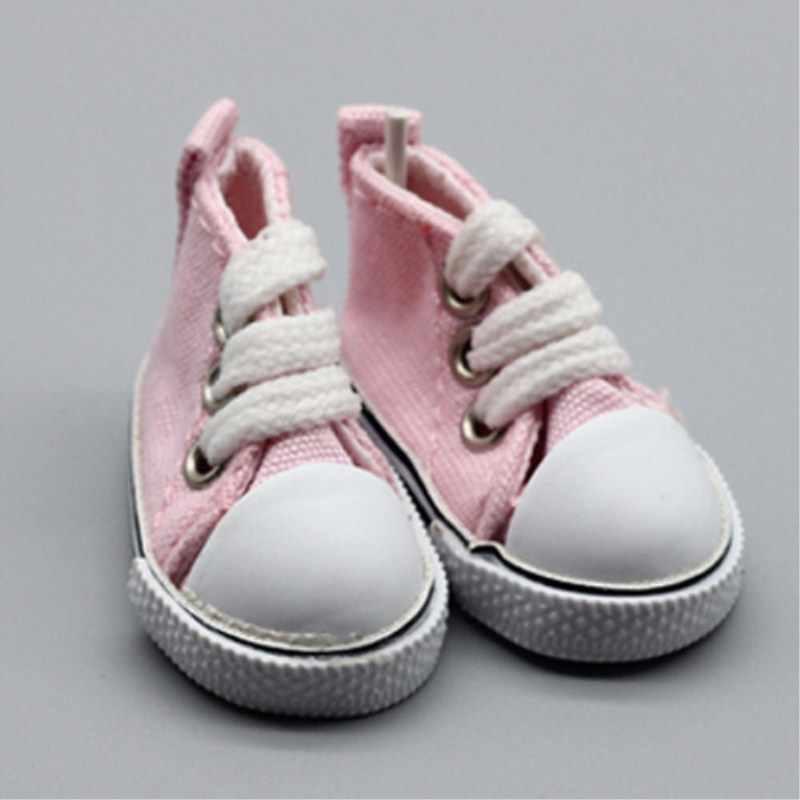 5 ซม. รองเท้าสำหรับ 1/6 BJD ตุ๊กตาแฟชั่น Mini ผ้าใบรองเท้า Handmade ตุ๊กตาอุปกรณ์เสริมของเล่นเพื่อการศึกษาเด็ก DIY ตุ๊กตารองเท้าของขวัญ