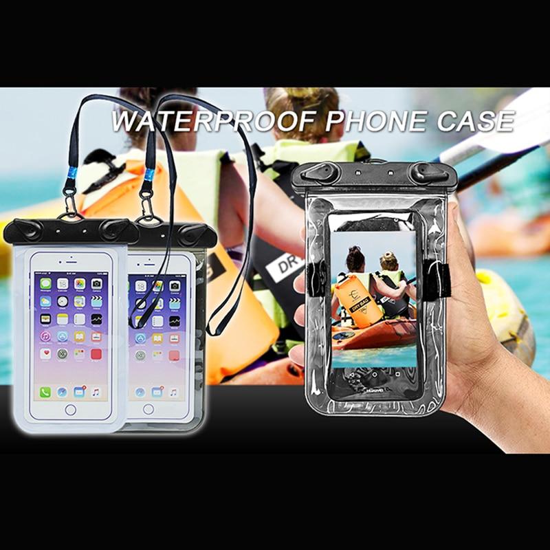 5,5 дюймдік желдетілетін суға төзімді ұялы телефон сөмке iPhone 8 7 6s үшін құрғақ сөмкеден жасалған қақпақ Samsung Galaxy TPU жүзу сөмкелері