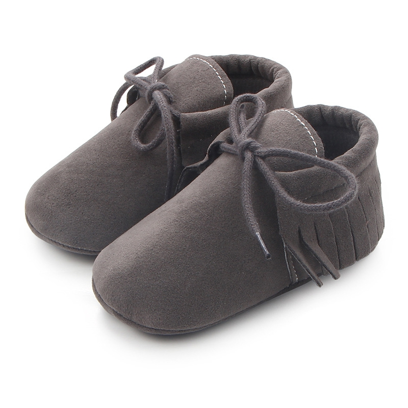 Infant PU Suede Leather Boy Girl Moccasins Shoes Baby First Walkers Tassel Earrings Soft Shoes Kids Shoes