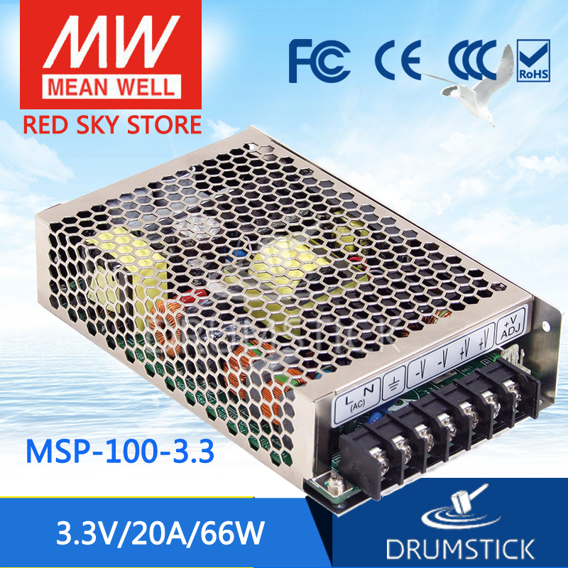 100% Original MEAN WELL MSP-100-3.3 3.3V 20A meanwell MSP-100 3.3V 66W Single Output Medical Type Power Supply 100% original mean well msp 100 36 36v 2 9a meanwell msp 100 36v 104 4w single output medical type power supply