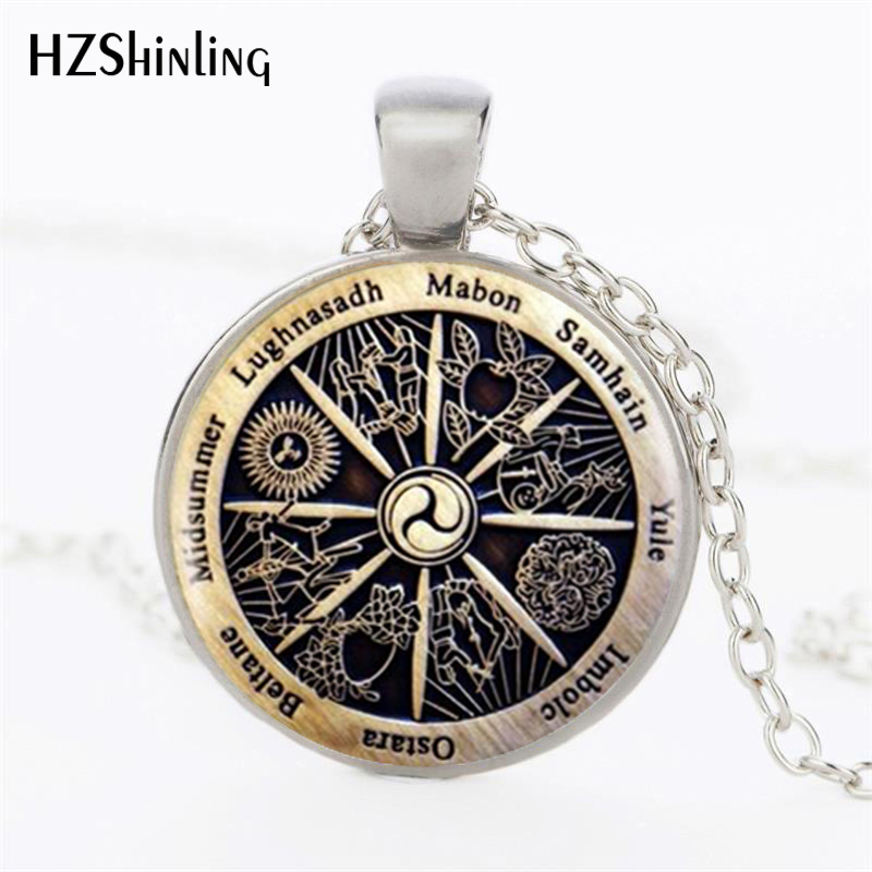Hot Sale Zodiac Wicca Pendant Zodiac Wicca Charm Necklace Silver Necklace Women Jewelry Men Gift HZ1 1