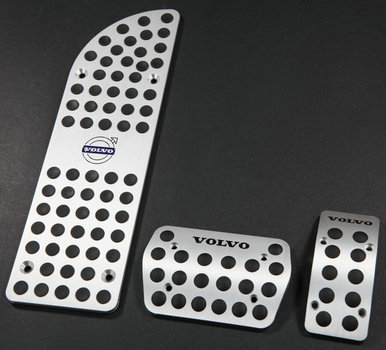 Car Gas Pedal For VOLVO S80 XC90 XC60 S60 AT Car Foot Rest Aluminum Alloy Car Brake Pedal brand new 3pcs aluminium non slip foot rest fuel gas brake pedal cover for volvo xc60 at 2015 2017