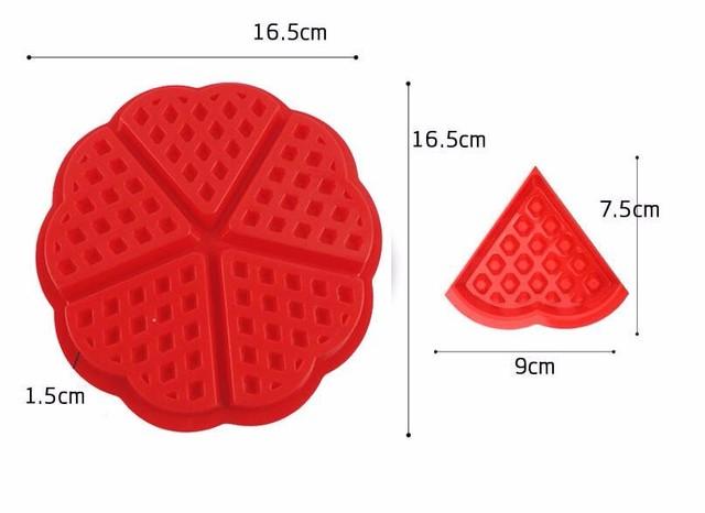 Heart Shape Waffle Mold 5-Cavity Silicone Oven Baking