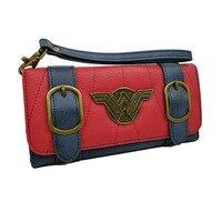 Tvoj poklon Wonder Woman Double Buckle Tri Fold Flap Wallet Credit Card Clutch