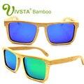 IVSTA Superdimensionada Óculos De Sol Dos Homens Polarizados Óculos De Sol Masculino Óculos De Sol De Madeira De Bambu De Madeira Real Mulheres Espelho Revo Natureza grande VB002